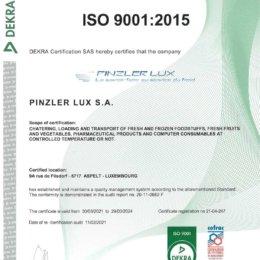 CERTIFICAT ISO 9001-2015 GB-1